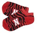 Nebraska N Zebra Stripe No Show Sock Nebraska Cornhuskers, Nebraska  Footwear, Huskers  Footwear, Nebraska  Underwear & PJ%27S, Huskers  Underwear & PJ%27S, Nebraska  Ladies Accessories, Huskers  Ladies Accessories, Nebraska  Mens Accessories , Huskers  Mens Accessories , Nebraska Nebraska N Zebra Stripe No Show Sock, Huskers Nebraska N Zebra Stripe No Show Sock