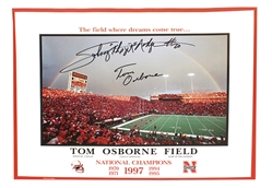 Nebraska Native Hero's Rainbow Poster Nebraska Cornhuskers, husker football, nebraska cornhuskers merchandise, husker merchandise, nebraska merchandise, husker memorabilia, husker autographed, nebraska cornhuskers autographed, Tom Osborne autographed, Tom Osborne signed, Tom Osborne collectible, Tom Osborne, nebraska cornhuskers memorabilia, nebraska cornhuskers collectible, Autographed Rainbow Poster