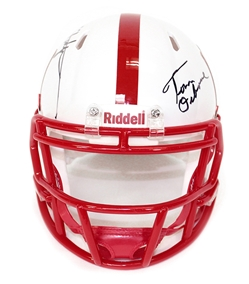 Nebraska Native Icons Mini Nebraska Cornhuskers, Nebraska  Former Players, Huskers  Former Players, Nebraska  Balls & Helmets, Huskers  Balls & Helmets, Nebraska Collectibles , Huskers Collectibles , Nebraska Armstrong Jr Autographed Mini Speed Helmet, Huskers Armstrong Jr Autographed Mini Speed Helmet