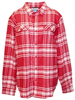Nebraska Plaid Button Down Flannel Nebraska Cornhuskers, Nebraska  Mens Polos, Huskers  Mens Polos, Nebraska Red Plaid Button Down Flannel, Huskers Red Plaid Button Down Flannel