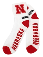 Nebraska Quarter Red Heel Toe Sock Nebraska Cornhuskers, Nebraska  Mens Accessories, Huskers  Mens Accessories, Nebraska  Mens, Huskers  Mens, Nebraska  Footwear, Huskers  Footwear, Nebraska  Ladies, Huskers  Ladies, Nebraska  Ladies Accessories, Huskers  Ladies Accessories, Nebraska White Quarter Red Heel Toe Sock, Huskers White Quarter Red Heel Toe Sock