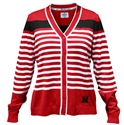 Huskers Striped Cardigan Nebraska Cornhuskers, Nebraska  Ladies Tops, Huskers  Ladies Tops, Nebraska Nebraska Red Striped Cardigan, Huskers Nebraska Red Striped Cardigan