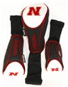 Nebraska Set of 3 Headcovers Nebraska Cornhuskers, Nebraska Golf Items, Huskers Golf Items, Nebraska Nebraska set of 3 Headcovers, Huskers Nebraska set of 3 Headcovers