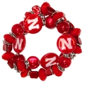 Nebraska Shell N Bead Bracelet Nebraska Cornhuskers, Nebraska  Ladies Accessories, Huskers  Ladies Accessories, Nebraska  Ladies, Huskers  Ladies, Nebraska  Jewelry & Hair, Huskers  Jewelry & Hair, Nebraska Nebraska Shell N Bead Bracelet, Huskers Nebraska Shell N Bead Bracelet