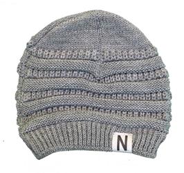 222386b5e0d Nebraska Skinny N Soft Slouch Beanie - Gray Nebraska Cornhuskers