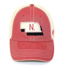 Nebraska State Outline United Trucker Nebraska Cornhuskers, Nebraska  Mens Hats, Huskers  Mens Hats, Nebraska  Mens Hats, Huskers  Mens Hats, Nebraska Nebraska State Outline United Trucker, Huskers Nebraska State Outline United Trucker