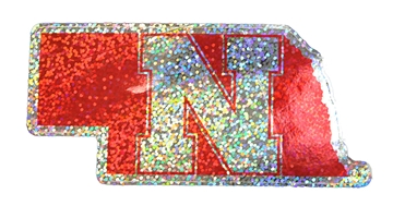 Nebraska State Shimmer N Decal Nebraska Cornhuskers, Nebraska Stickers Decals & Magnets, Huskers Stickers Decals & Magnets, Nebraska Nebraska State Shimmer N Decal, Huskers Nebraska State Shimmer N Decal
