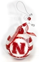 Nebraska Striped Ornament Nebraska Cornhuskers, Nebraska Collectibles, Huskers Collectibles, Nebraska  Novelty, Huskers  Novelty, Nebraska  Holiday Items   , Huskers  Holiday Items   , Nebraska Nebraska Striped Ornament, Huskers Nebraska Striped Ornament