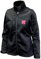 Nebraska Traverse Softshell Jacket Nebraska Cornhuskers, Nebraska  Ladies Outerwear, Huskers  Ladies Outerwear, Nebraska  Ladies, Huskers  Ladies, Nebraska Black W Traverse Softshell Jacket, Huskers Black W Traverse Softshell Jacket