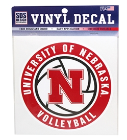 Nebraska Volleyball N Decal Nebraska Cornhuskers, Nebraska Vehicle, Huskers Vehicle, Nebraska Stickers Decals & Magnets, Huskers Stickers Decals & Magnets, Nebraska Volleyball, Huskers Volleyball, Nebraska Nebraska Volleyball Decal, Huskers Nebraska Volleyball Decal