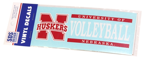 Nebraska Volleyball Horizontal Decal Nebraska Cornhuskers, Nebraska Vehicle, Huskers Vehicle, Nebraska Stickers Decals & Magnets, Huskers Stickers Decals & Magnets, Nebraska Volleyball, Huskers Volleyball, Nebraska Nebraska Volleyball Horizontal Decal, Huskers Nebraska Volleyball Horizontal Decal