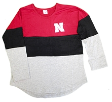 Nebraska Youth Gals Treasure Tee Nebraska Cornhuskers, Nebraska  Youth, Huskers  Youth, Nebraska Girls LS Treasure Colorblock Tee Col, Huskers Girls LS Treasure Colorblock Tee Col