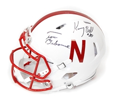 Osborne Abdullah and K Bell Signed Husker Speed Helmet Nebraska Cornhuskers, Nebraska One of a Kind, Huskers One of a Kind, Nebraska  Balls & Helmets, Huskers  Balls & Helmets, Nebraska  Former Players, Huskers  Former Players, Nebraska Evans and Baptiste Signed Rivals Mini, Huskers Evans and Baptiste Signed Rivals Mini
