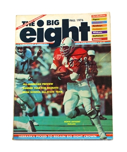Osborne Autographed 1976 Big Eight Preview Magazine Nebraska Cornhuskers, Osborne Autographed 1976 Big Eight Preview Magazine