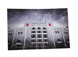 Osborne Signed Memorial Stadium Postcard Nebraska Cornhuskers, Nebraska  Office Den & Entry, Huskers  Office Den & Entry, Nebraska University of Nebraska Crest Postcard, Huskers University of Nebraska Crest Postcard