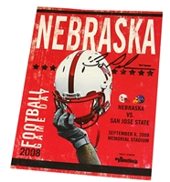 Pelini Autographed 2008 San Jose State Game Program Nebraska Cornhuskers, 2009 Florida Atlantic Game Program