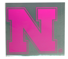 Pink Nebraska Color Shock Decal Nebraska Cornhuskers, Nebraska Vehicle, Huskers Vehicle, Nebraska Stickers Decals & Magnets, Huskers Stickers Decals & Magnets, Nebraska Pink Nebraska Color Shock Decal, Huskers Pink Nebraska Color Shock Decal