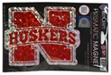 Prismatic Iron N Magnet Nebraska Cornhuskers, Nebraska Vehicle, Huskers Vehicle, Nebraska Stickers Decals & Magnets , Huskers Stickers Decals & Magnets , Nebraska Prismatic Iron N Magnet, Huskers Prismatic Iron N Magnet