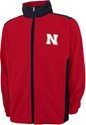 RED POLAR FLEECE FULL ZIP Nebraska Cornhuskers, Nebraska  Mens Outerwear, Huskers  Mens Outerwear, Nebraska  Mens, Huskers  Mens, Nebraska  Zippered, Huskers  Zippered, Nebraska Red Polar Fleece Full Zip, Huskers Red Polar Fleece Full Zip