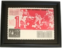 Rare 1970 National Champs Placematt Framed Nebraska Cornhuskers, Nebraska One of a Kind, Huskers One of a Kind, Nebraska  Framed Pieces, Huskers  Framed Pieces, Nebraska Rare 1970 National Champs Placematt Framed, Huskers Rare 1970 National Champs Placematt Framed