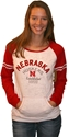 Rd/Wh NE Huskers Burnout Crew Neck Nebraska Cornhuskers, Nebraska  Ladies, Huskers  Ladies, Nebraska  Ladies Sweatshirts, Huskers  Ladies Sweatshirts, Nebraska Rd/Wh NE Huskers Burnout Crew Neck, Huskers Rd/Wh NE Huskers Burnout Crew Neck