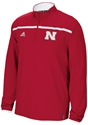 Red Adidas 1/4 Zip Huskers Sideline Long Sleeve Knit Nebraska Cornhuskers, Nebraska  Mens, Huskers  Mens, Nebraska  Mens Outerwear, Huskers  Mens Outerwear, Nebraska Red Adidas 1/4 Zip Huskers Sideline Long Sleeve Knit , Huskers Red Adidas 1/4 Zip Huskers Sideline Long Sleeve Knit