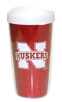 Husker Glitter Travel Mug Nebraska Cornhuskers, Nebraska  Tailgating, Huskers  Tailgating, Nebraska  Kitchen & Glassware, Huskers  Kitchen & Glassware, Nebraska Vehicle, Huskers Vehicle, Nebraska Red Glitter Travel Mug, Huskers Red Glitter Travel Mug