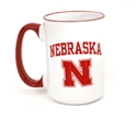 Red Handle Nebraska Coffee Mug Nebraska Cornhuskers, Nebraska  Kitchen & Glassware , Huskers  Kitchen & Glassware , Nebraska Red Handle Nebraska Coffee Mug , Huskers Red Handle Nebraska Coffee Mug