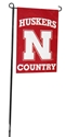 Red Husker Country Garden Banner Nebraska Cornhuskers, Nebraska  Flags & Windsocks, Huskers  Flags & Windsocks, Nebraska  Patio, Lawn & Garden, Huskers  Patio, Lawn & Garden, Nebraska Red Husker Country Garden Banner, Huskers Red Husker Country Garden Banner