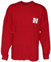 Red L/S Womens Sweeper Nebraska Cornhuskers, Nebraska  Ladies T-Shirts, Huskers  Ladies T-Shirts, Nebraska  Ladies, Huskers  Ladies, Nebraska  Long Sleeve, Huskers  Long Sleeve, Nebraska Red L/S Womens Sweeper, Huskers Red L/S Womens Sweeper