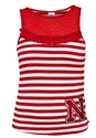 Red Mesh Striped Iron N Tank Nebraska Cornhuskers, Nebraska  Ladies Tops, Huskers  Ladies Tops, Nebraska  Tank Tops, Huskers  Tank Tops, Nebraska Red Mesh Striped Iron N Tank, Huskers Red Mesh Striped Iron N Tank