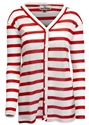 Red N White Stripe Comfy Cardigan Nebraska Cornhuskers, Nebraska  Ladies Tops, Huskers  Ladies Tops, Nebraska Red N White Stripe Comfy Cardigan, Huskers Red N White Stripe Comfy Cardigan