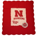 Red Quilted Applique Blanket Nebraska Cornhuskers, Nebraska  Game Room & Big Red Room, Huskers  Game Room & Big Red Room, Nebraska  Tailgating, Huskers  Tailgating, Nebraska  Bedroom & Bathroom, Huskers  Bedroom & Bathroom, Nebraska  Comfy Stuff, Huskers  Comfy Stuff, Nebraska Red Quilted Applique Blanket, Huskers Red Quilted Applique Blanket