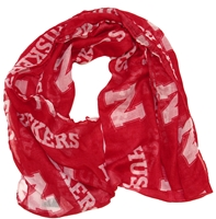 Red Sheer Infinity Scarf with N Huskers Nebraska Cornhuskers, Nebraska  Ladies, Huskers  Ladies, Nebraska  Ladies, Huskers  Ladies, Nebraska  Ladies Accessories, Huskers  Ladies Accessories, Nebraska  Ladies Outerwear, Huskers  Ladies Outerwear, Nebraska Nebraska Logo Scarf, Huskers Nebraska Logo Scarf