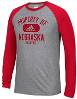 Red Sleeve Adidas Property of Nebraska LS Raglan Nebraska Cornhuskers, Nebraska  Mens T-Shirts, Huskers  Mens T-Shirts, Nebraska  Mens, Huskers  Mens, Nebraska  Long Sleeve, Huskers  Long Sleeve, Nebraska Red Sleeve Adidas Property of Nebraska LS Raglan , Huskers Red Sleeve Adidas Property of Nebraska LS Raglan