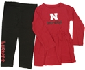 Red/White Toddler Cornhuskers Dress Set Nebraska Cornhuskers, Nebraska  Childrens, Huskers  Childrens, Nebraska Shorts & Pants, Huskers Shorts & Pants, Nebraska  Long Sleeve, Huskers  Long Sleeve, Nebraska Red/White Toddler Cornhuskers Dress Set, Huskers Red/White Toddler Cornhuskers Dress Set