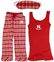 Revelation Ladies Pant and Tank Nebraska Cornhuskers, Revelation Ladies Pant and Tank Sleep Ware, White, Red