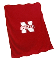 N Huskers Red Fleece Blanket Nebraska Cornhuskers, Sweatshirt Blanket Red