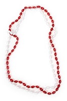 Scarlet and Cream Mini Football Bead Necklace Nebraska Cornhuskers, husker football, nebraska cornhuskers merchandise, nebraska merchandise, husker merchandise, nebraska cornhuskers apparel, husker apparel, nebraska apparel, husker womens apparel, nebraska cornhuskers womens apparel, nebraska womens apparel, husker womens merchandise, nebraska cornhuskers womens merchandise, womens nebraska accessories, womens husker accessories, womens nebraska cornhusker accessories,Football Beads