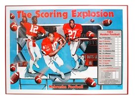 Scoring Explosion Autographed 1983 Schedule Poster Nebraska Cornhuskers, Nebraska One of a Kind, Huskers One of a Kind, Nebraska  Former Players, Huskers  Former Players, Nebraska  Photos Prints & Posters, Huskers  Photos Prints & Posters, Nebraska Irving Fryar Autographed Matted Print, Huskers Irving Fryar Autographed Matted Print