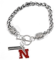 Silver Iron N Charm Bracelet Nebraska Cornhuskers, Nebraska  Jewelry & Hair, Huskers  Jewelry & Hair, Nebraska  Ladies, Huskers  Ladies, Nebraska  Ladies Accessories, Huskers  Ladies Accessories, Nebraska Silver Iron N Charm Bracelet, Huskers Silver Iron N Charm Bracelet