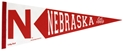 Skinny N Wool Pennant Nebraska Cornhuskers, Nebraska  Game Room, Huskers  Game Room, Nebraska  Office Den & Entry   , Huskers  Office Den & Entry   , Nebraska Skinny N Wool Pennant, Huskers Skinny N Wool Pennant
