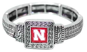 Square Nebraska Stretch Bracelet Nebraska Cornhuskers, Nebraska  Ladies Accessories, Huskers  Ladies Accessories, Nebraska  Jewelry & Hair, Huskers  Jewelry & Hair, Nebraska  Ladies, Huskers  Ladies, Nebraska Square Nebraska Stretch Bracelet, Huskers Square Nebraska Stretch Bracelet