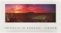 Stadium At Sunset Print Nebraska Cornhuskers, Nebraska  Prints & Posters, Huskers  Prints & Posters, Nebraska Stadium At Sunset Print, Huskers Stadium At Sunset Print