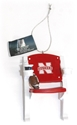 Stadium Chair Ornament Nebraska Cornhuskers, Nebraska  Holiday Items, Huskers  Holiday Items, Nebraska Stadium Chair Ornament, Huskers Stadium Chair Ornament