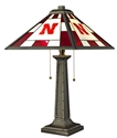 Stained Glass Nebraska Table Lamp Nebraska Cornhuskers, Nebraska  Game Room & Big Red Room, Huskers  Game Room & Big Red Room, Nebraska  Office Den & Entry, Huskers  Office Den & Entry, Nebraska  Bedroom & Bathroom, Huskers  Bedroom & Bathroom, Nebraska Stained Glass Nebraska Table Lamp, Huskers Stained Glass Nebraska Table Lamp