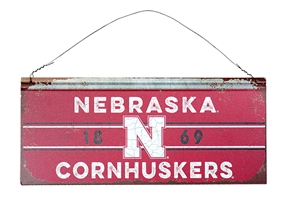Stripe Band Cornhuskers Tin Sign Nebraska Cornhuskers, Nebraska  Framed Pieces, Huskers  Framed Pieces, Nebraska  Game Room & Big Red Room , Huskers  Game Room & Big Red Room , Nebraska Stripe Band Cornhuskers Tin Sign, Huskers Stripe Band Cornhuskers Tin Sign