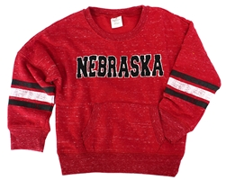 Toddler Girls Husker Fleece Roque Crew Nebraska Cornhuskers, Nebraska  Infant, Huskers  Infant, Nebraska  Kids, Huskers  Kids, Nebraska Toddler Girls Red Fleece Roque Crew, Huskers Toddler Girls Red Fleece Roque Crew