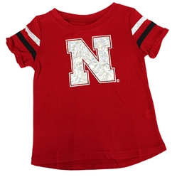 Toddler Girls Iron N Yeah Yeah Tee Nebraska Cornhuskers, Nebraska  Childrens, Huskers  Childrens, Nebraska Toddler Girls Yeah Yeah SS Tee Col, Huskers Toddler Girls Yeah Yeah SS Tee Col