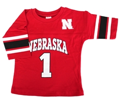Toddlers Nebraska Striped Jersey Tee Nebraska Cornhuskers, Nebraska  Youth, Huskers  Youth, Nebraska  Kids, Huskers  Kids, Nebraska Red Stripe Jersey Tee LK, Huskers Red Stripe Jersey Tee LK